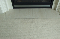 bleach carpet damage repaired