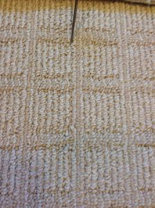 Missing row Berber carpet