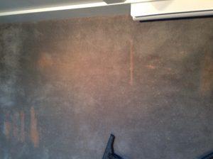 Bleach Carpet Damage before dyeing